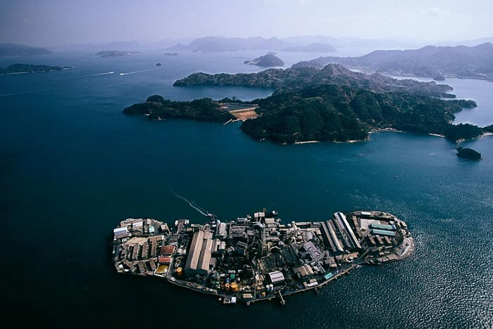 Japanese factory built on an island east of Hiroshima Honshu