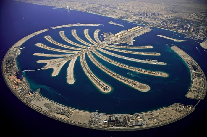 Jumeirah Palm island in Dubai, UAE