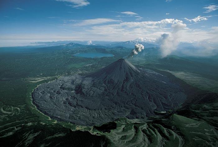 Karymsky volcano in Kamchatka, Russia
