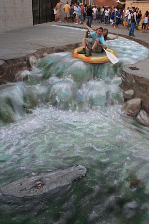 Amazing-3D-Sidewalk-Art-rafting