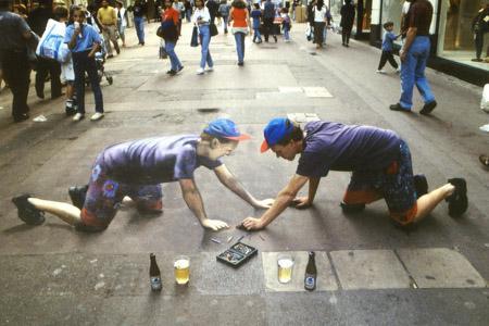 Amazing-3D-Sidewalk-Art-self-portrait