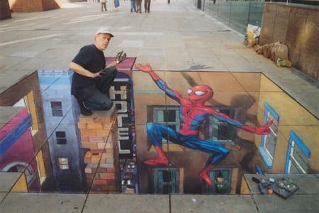 Amazing-3D-Sidewalk-Art-spiderman