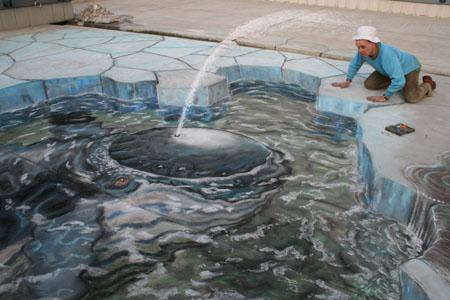 Amazing-3D-Sidewalk-Art-whale-friends