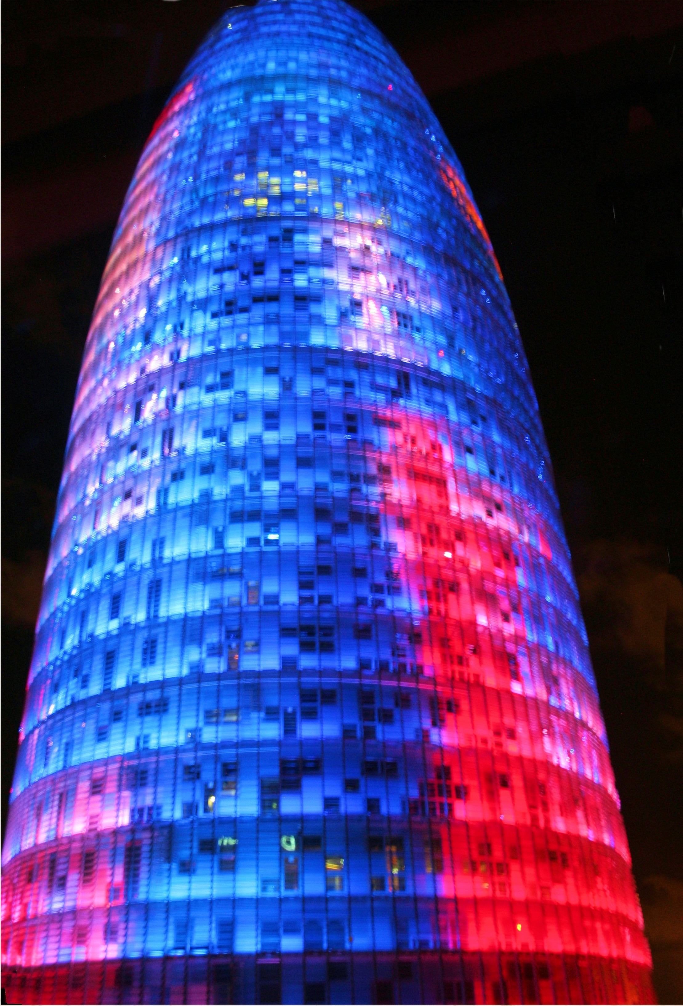 View of Torre Agbar from the hotel room
