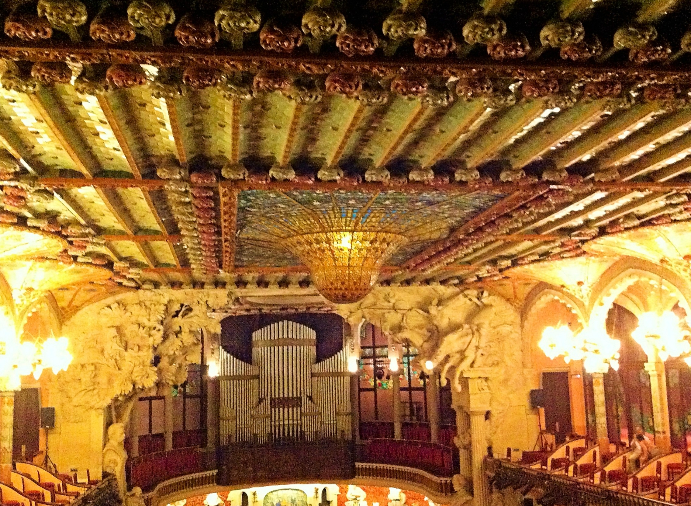 Inside the Palau de la Musica Catalana