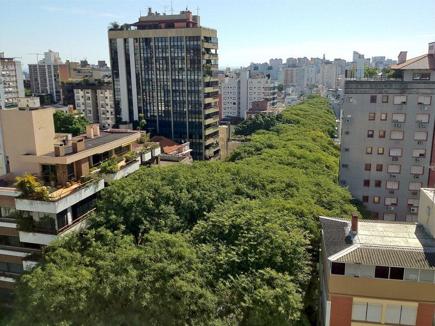 Porto Alegre street, Brazil