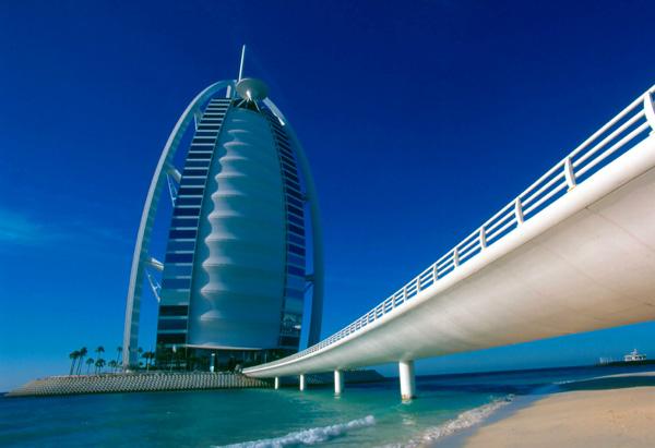 The Burj Al Arab bills itself as the world's first seven-star hotel.