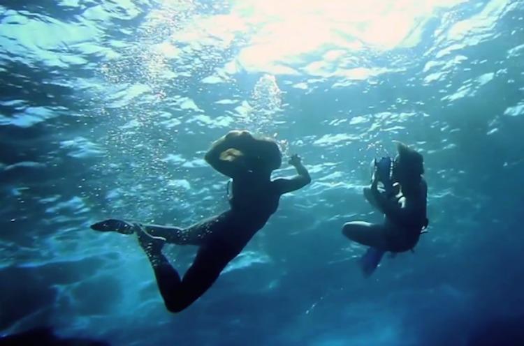 copertina modelle subacquee