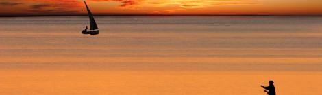 beach sunset mozambique