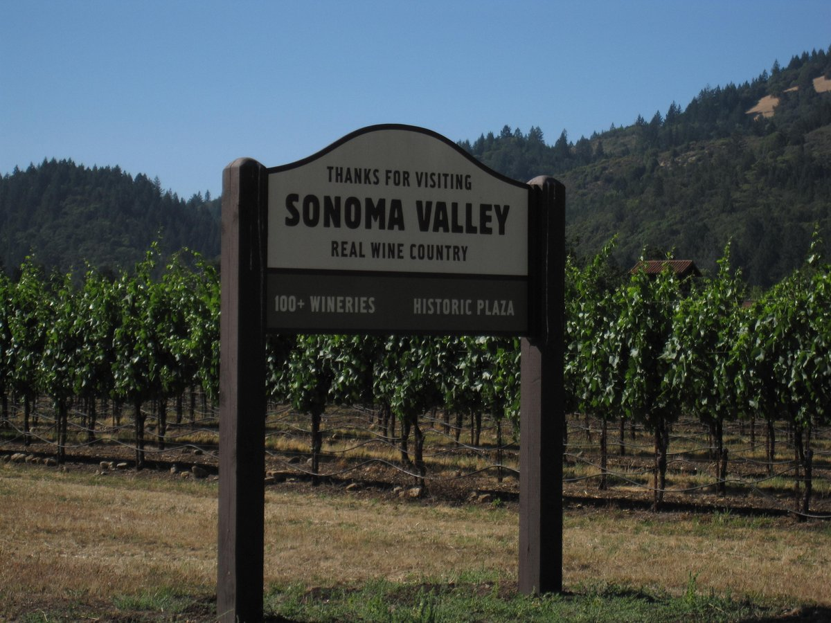 Sonoma Valley Real Wine Country Sign The Golden Scope