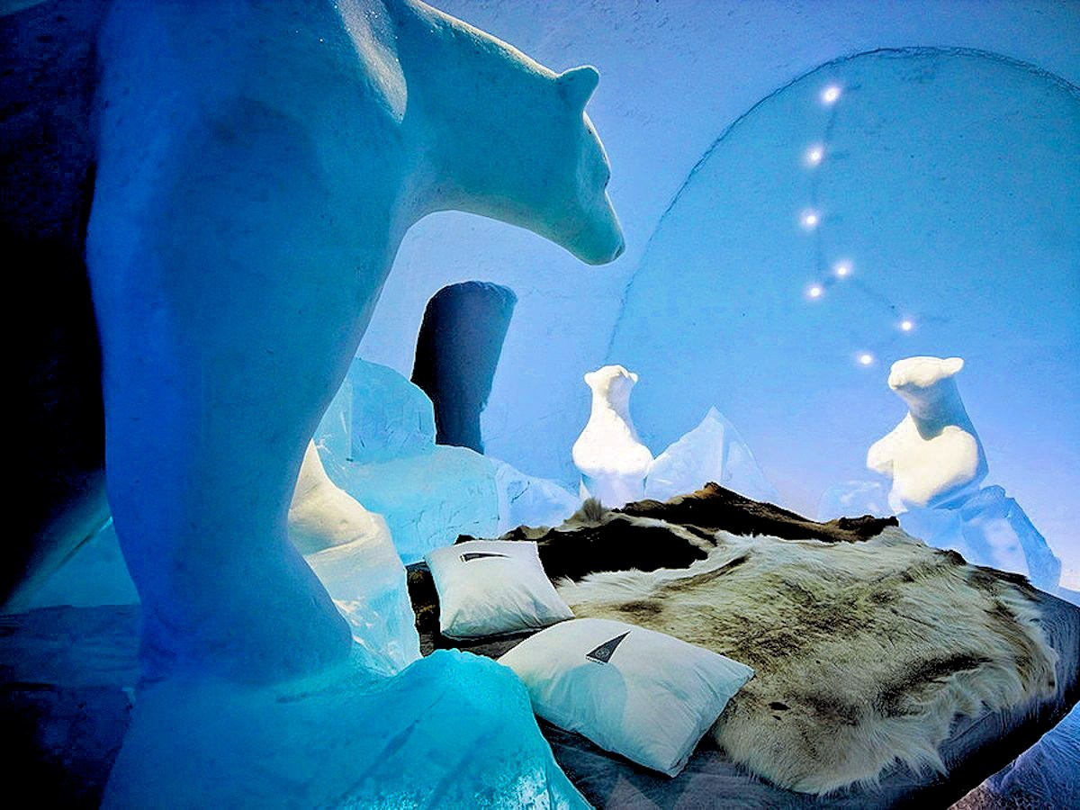 Sharp ice hotel sweden wh the golden scope for 10 unique hotels around the world