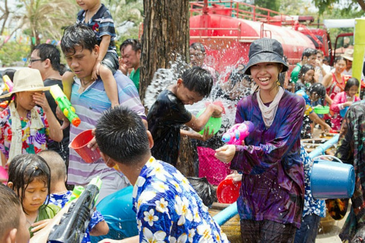 Songkran, the wet new year