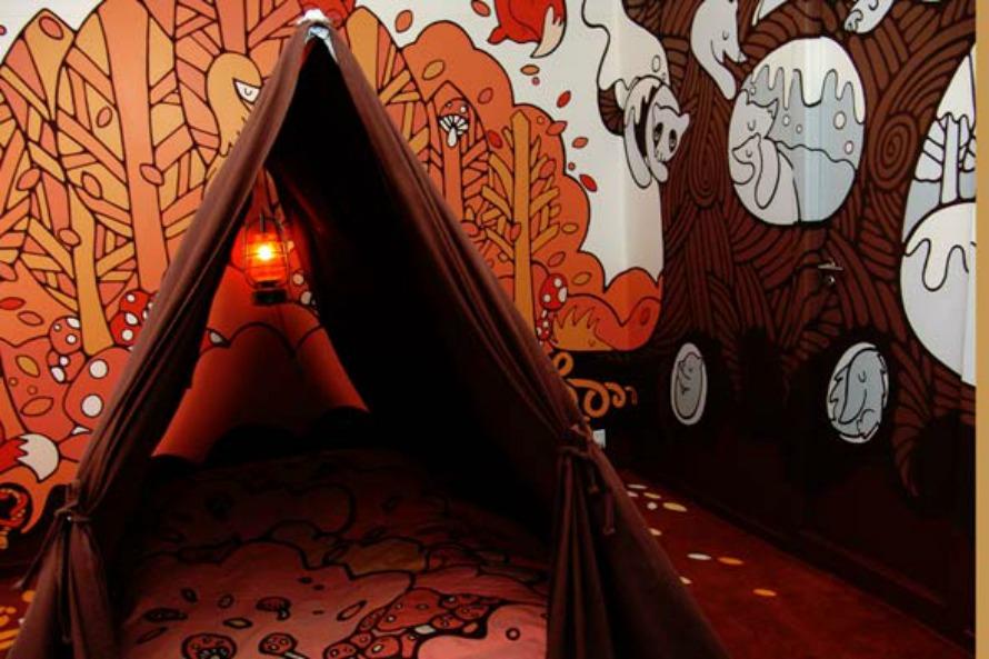 Hotel Fox Copenhagen Denmark Art Boutique Suite Tent Bed