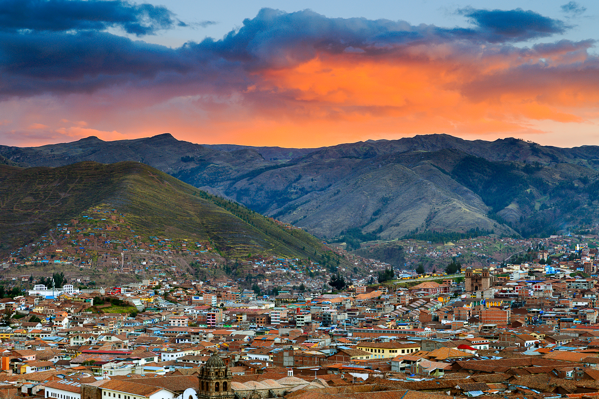Sunset Over Cusco
