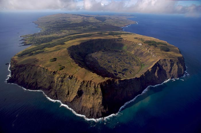 National park of Rapa Nui, Easter Island, Chile