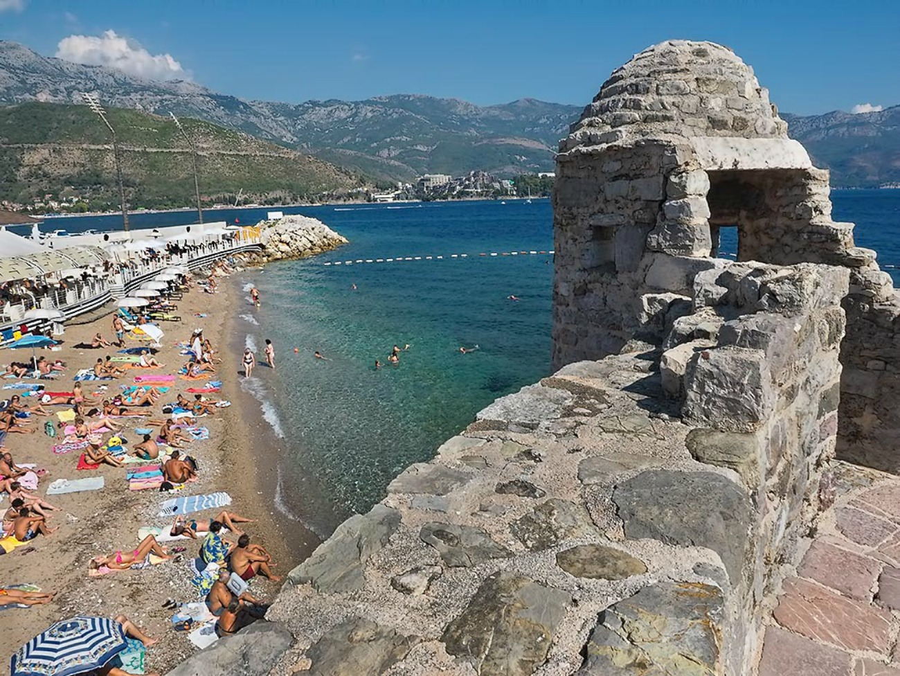 Budva, medieval history and tourist beaches